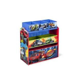 Delta Children Multi-Bin Toy Organizer, Nick Jr. Blaze and the Monster Machines