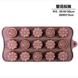 🐧朱古力模chocolate mold花朵 Flowers