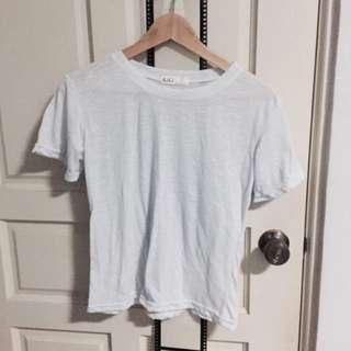 grainy white tee shirt top