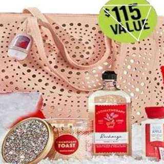 BATH AND BODY WORKS RECHARGE VIP TOTE SET