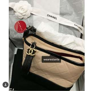 Chanel Gabrielle beige color hobo small bag
