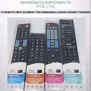 TV Remote (LG TV Remote - Samsung TV Remote - SONY TV Remote - Toshiba TV Remote - Sharp TV Remote Control)
