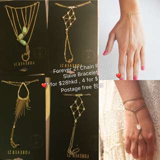 Forever 21 Accessories Jewellery Finger Ring Hand chain slave bracelet 飾品飾物紫霞仙子連指手指鏈手鍊Kate spade/juicy couture/Marc Jacob/Pandora/Tiffany co/zara/topshop/forever 22/H&M/apm Monaco/Swarovski/links of London/Agnes b/lily charmed/guess/topshop/givenchy