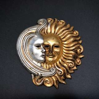 Authentic Venetian Ceramic Sun & Moon Mask