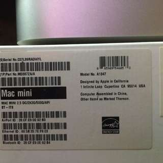 Mac Mini i5 2.5 Ghz