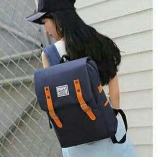 herschel backpack navy blue