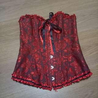 Black and Red Lolita Boned Corset