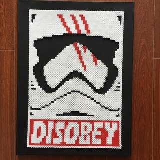 Hama beads design Star wars Stormtrooper portrait disobey