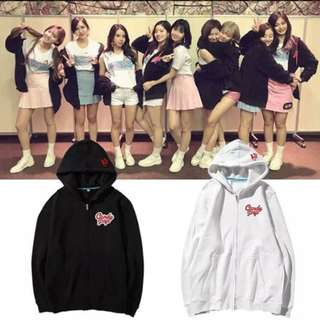 Preorder - TWICE CANDY POP ZIP UP HOODIE SIZE ; S~3XL COLOUR AS SHOWN ONLY exc.pos