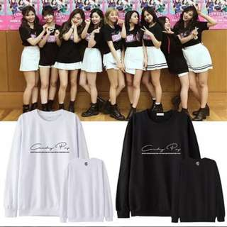 Preorder - TWICE CANDY POP SWEATSHIRT SIZE ; S~3XL COLOUR AS SHOWN ONLY exc.pos