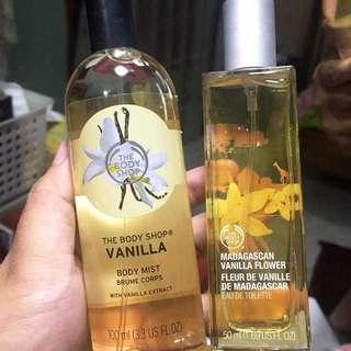 Paket bodymist vanila dan edt 50ml vanila kotak