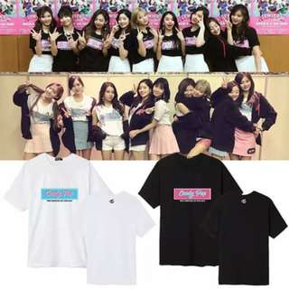 Preorder - TWICE CANDY POP TSHIRT SIZE ; S~3XL COLOUR AS SHOWN ONLY exc.pos