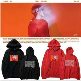 Preorder - JONGHYUN POET|ARTIST HOODIE SIZE ; S~3XL COLOUR AS SHOWN ONLY exc.pos