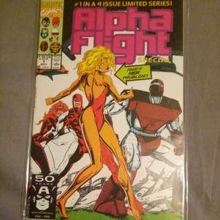 Vintage Marvel comics Alpha Fight