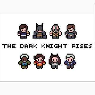 Hama beads design DC COMICS the dark knight rises