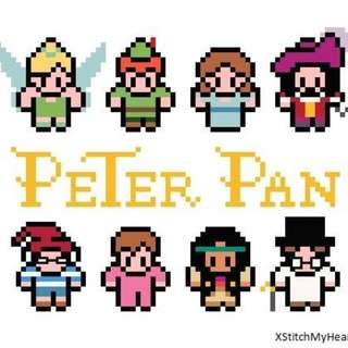 Hama beads design Disney Peter Pan characters