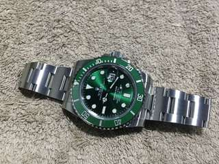 勞力士 Rolex 116610 LV Submariner 綠綠 全新 Full Set