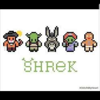 Hama beads design Shrek characters
