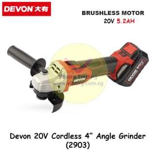 "Devon 4"" Cordless Angle Grinder (2903)"