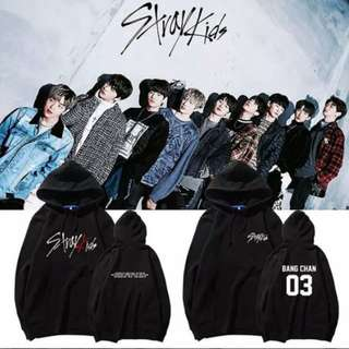 Preorder - STRAY KIDS HOODIE SIZE ; S~3XL COLOUR AS SHOWN ONLY exc.pos