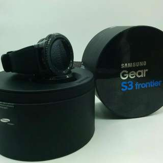 (SOLD) Lte Samsung Gear S3 Frontier 4g  E Sim Model With Samsung Sg Warranty  Nice Condition Full Box  MHFEB