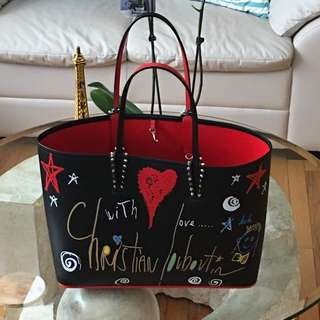 Authentic Christian Louboutin Cabata Leather Tote Bag (Limited Edition)