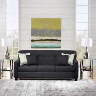 Grey fabric 3 seat couch