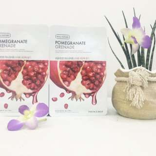 Real nature pomegranate face mask