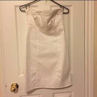 H&M white strapless dress