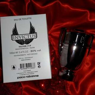 Paco rabanne invictus silver cup tester