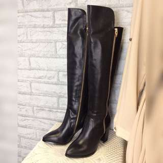 100% New Genuine Leather Women Over Knee Boot