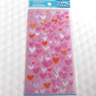 Clear stickers - hearts