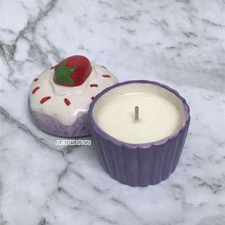 Passionfruit Scented Cupcake Candle