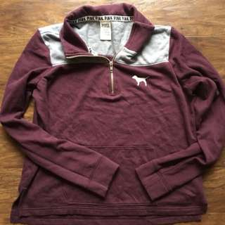 Quarter Zip PINK Sweater