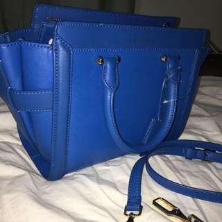 Blue small Charles and Keith bag