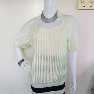 MARC JACOBS PALE YELLOW TOP