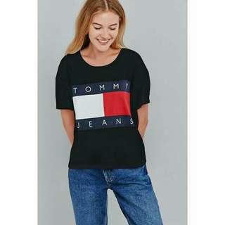 Tommy jeans tee in black