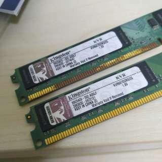 Kingston DDR2-667 2G RAM (2條)