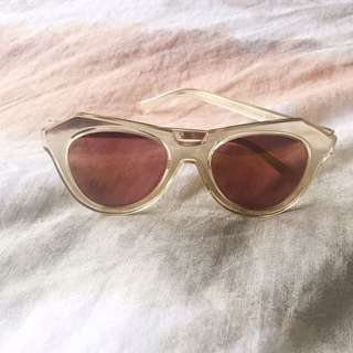 Karen Walker Gold Sunglasses