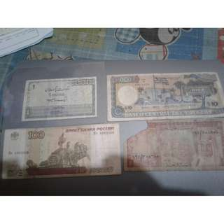 old and rare US PESO and FOREIGN banknotes