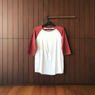 Staple Superior Raglan T-Shirt in Red