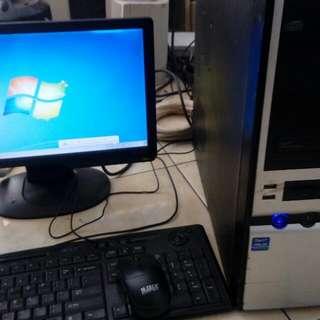 Fulset Komputer Core2Duo Dan LED BenQ