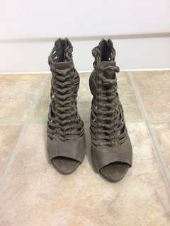 Vince Camuto real leather gladiator heels