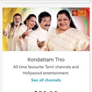 Short Term SingTel TV contract 10 months - Kondattam Trio
