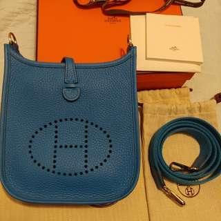 換袋-99% new Hermes Mini Evelyne