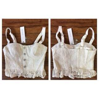Lace Crop Top - BNWT