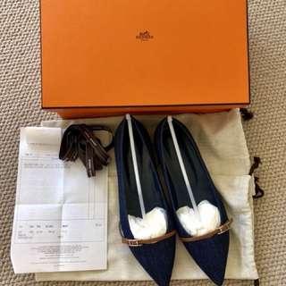 hermes ballerina Laura flat shoe