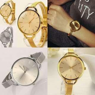 Jam tangan gold dan silver + box yaa