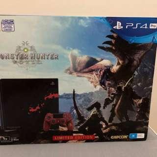 PS4 Pro 1TB Limited Edition Monster Hunter World Bundle