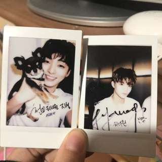 Wanna One Jisung and Jinyoung Polaroid 拍立得